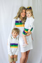 Purple Green Gold Chest Stripe Mardi Gras Dress