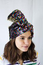 Multi Color Reversible Sequin Turbans/Headbands