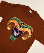 Mardi Gras Skull with Jester Hat T-Shirt