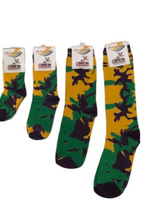 Camo Socks in Purple Green and Gold