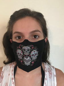 Sugar Skull Quartet Face Mask