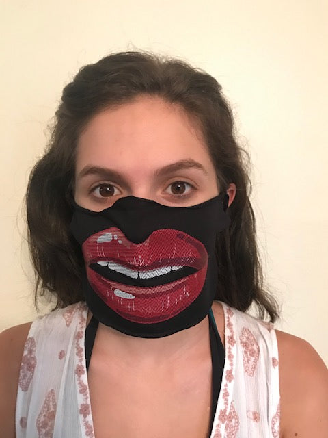 Big Lips Open Mouth Face Mask
