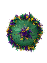 Mardi Gras Feathered Parasol