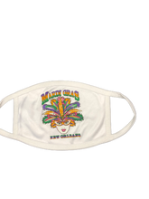 Mardi Gras Colorful Venetian Face Mask (White)
