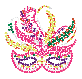 Mardi Gras Rhinestone Mask with Pink Accents