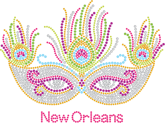 Mardi Gras Rhinestone Mask with silver accents and feathers