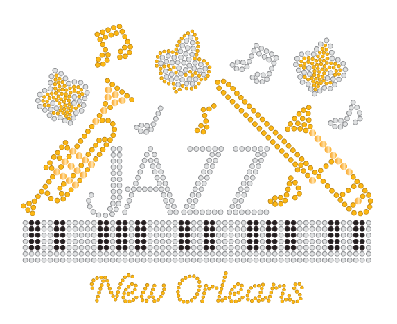Jazz Music Rhinestone Design