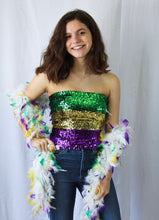 Mardi Gras Stretchable Sequin Tube Top/Skirt