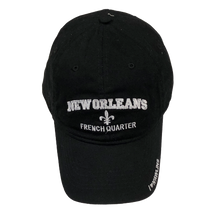 Adult Black New Orleans French Quarter Cap W/Fleur de Lis and I Love N'awlins - Available in assorted colors