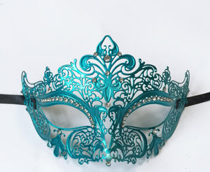 Whimsical Metal Laser Cut Mask with Fleur de Lis