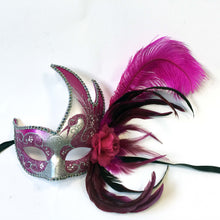Flame Mask with Flower and Feathers