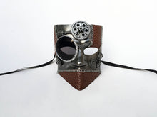 Steampunk Warrior Mask with Leather Accents