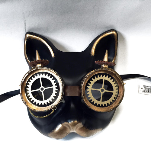 Steampunk Cat Face Mask