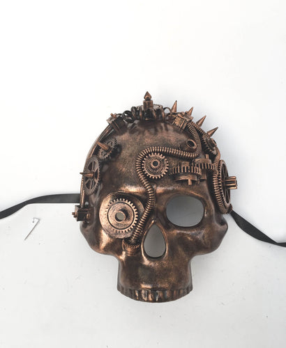 Steampunk Skull Jawless Mask