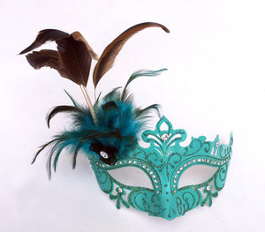 Laser Cut Non Metal Mask with Feather