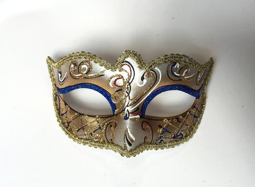 Victorian Eyelet Swirl Mask In Gold And Silver