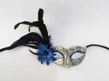 Victorian Style Eyelet with Swirls, Flower and Side Feathers