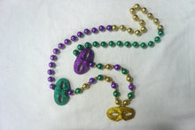Eyelet Glitter Venetian Masks on a Purple Green Gold Specialty Beads