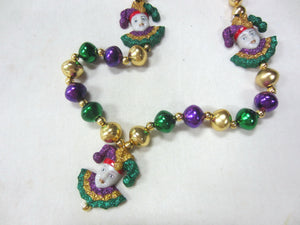 Jesters Glitter Trio with Purple Green Gold Specialty Beads