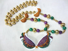 "Glitter Bra ""Show Your"" on a Purple Green Gold Specialty Beads"