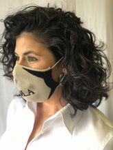 Cream NOLA Knit Face Mask
