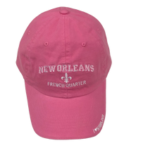 Adult New Orleans French Quarter Cap W/Fleur de Lis and I Love N'awlins - Available in assorted colors