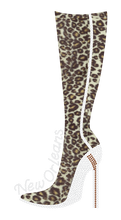 Black and Gold Leopard Stiletto Boots Rhinestone Tshirt