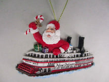 Santa on a Steamboat Ornament