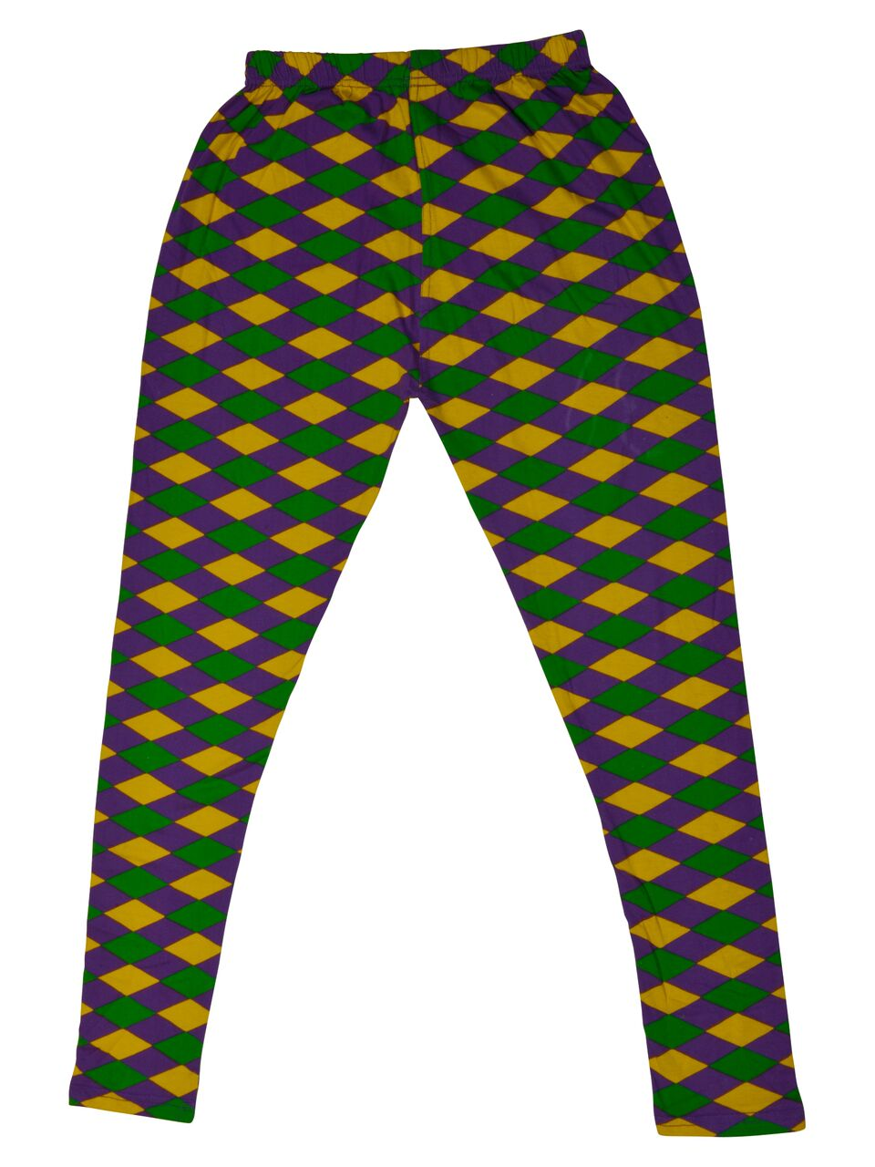 Purple Green Gold Harlequin Print Kids Tights/Leggings