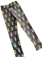 Junior Mardi Gras Purple, Green, Gold Sno Ball Leggings