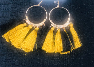 Black and Gold Hoop Earrings