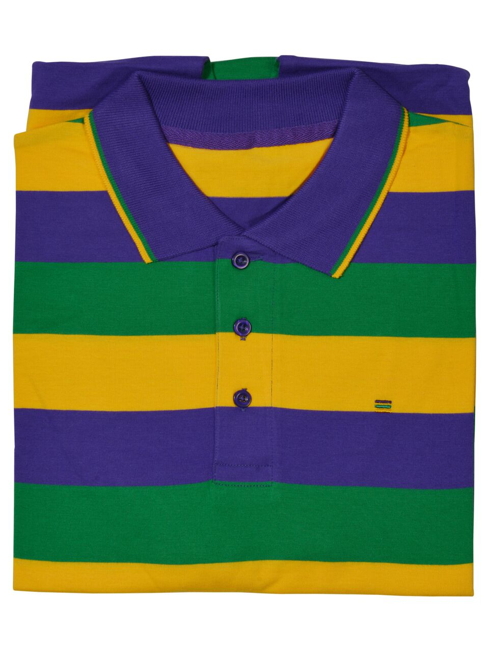 89df59e6 Purple Green Gold All Over Stripe Short Sleeve Adult Shirt – Mardi ...