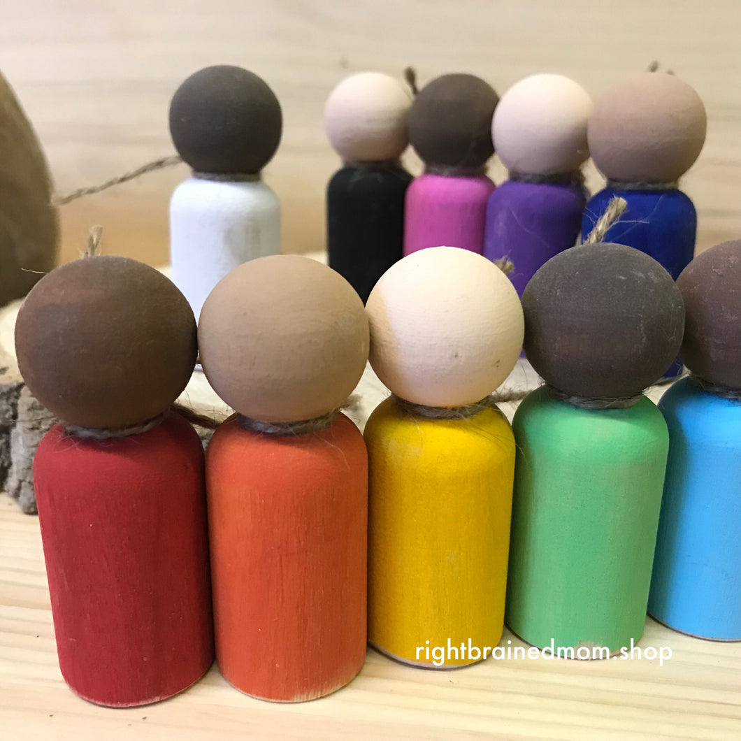 Peg Dolls (Rainbow)