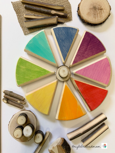 Wooden Colour Wheel/loose parts