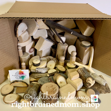 Loose Parts Mystery Box - 65 pieces