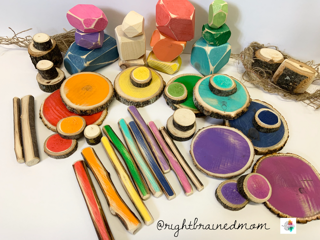 Colourful/Natural loose parts mix