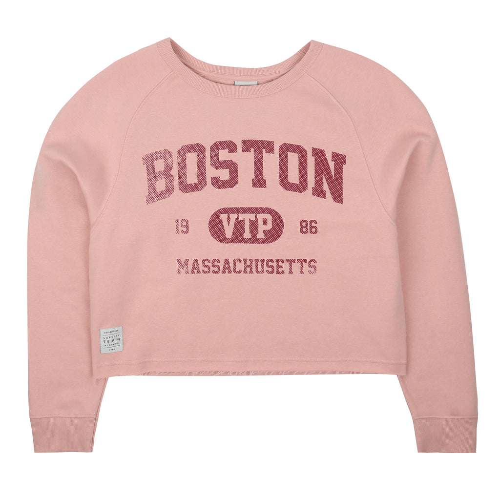 Boston Cropped Crew - Dusty Pink