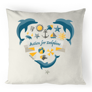 AFD 'ocean life' cushion cover - 100% linen.