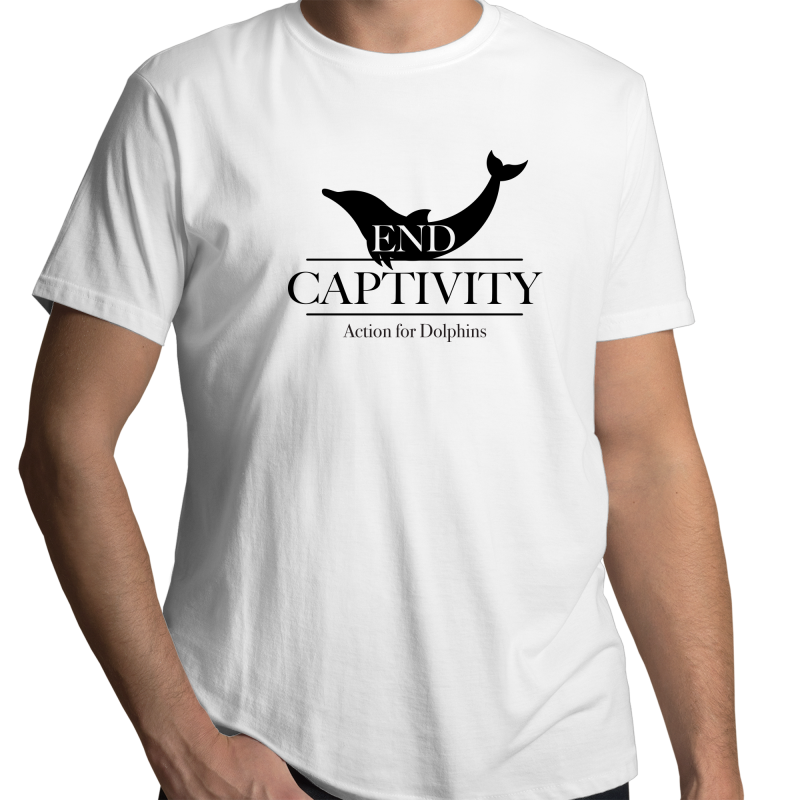 End captivity, unisex, fair-trade organic t-shirt. - WHITE.