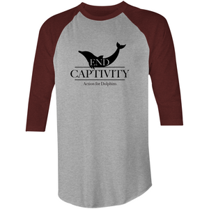AFD end captivity, unisex 3/4 length sleeve shirt.