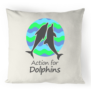 Retro wave AFD cushion cover - 100% linen.