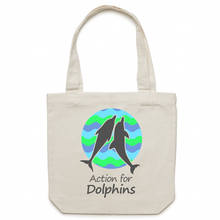 AFD canvas tote bag - wavy design