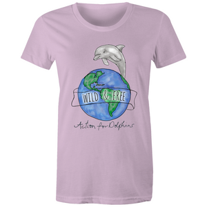 Wild and free watercolour women's t-shirt. 8 COLOURS.