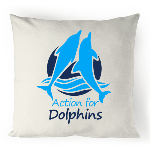 AFD logo - 100% linen cushion cover.