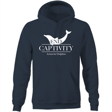 AFD end captivity, unisex hoodie with front pocket.