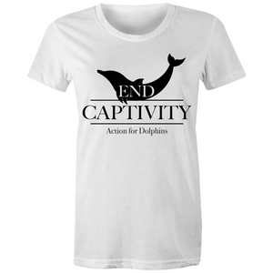 End captivity ladies cut tee, 100% cotton.  14 COLOURS
