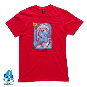 Watercolour dolphins - unisex t-shirt.