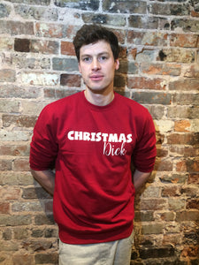 Christmas Dick Red Sweat - white letters