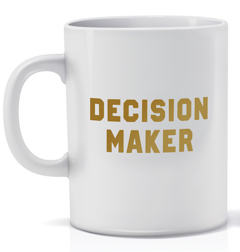 Decision Maker Mug (Gold)