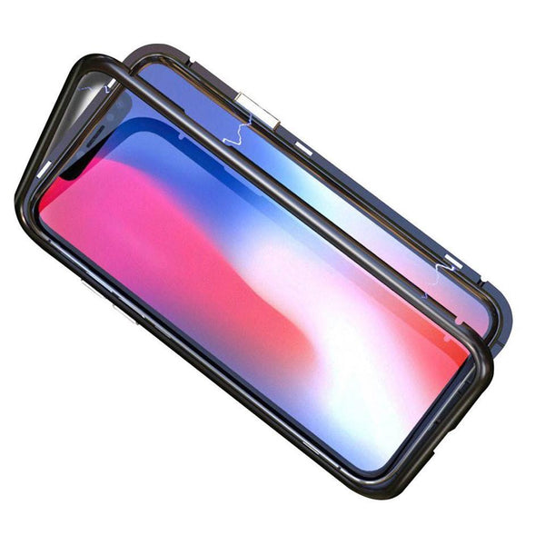 Magnetic phone case metal and tempered glass for iPhone 7/8, iPhone X/Xs, iPhone XR, iPhone XSMax - OneStoreOnline.com